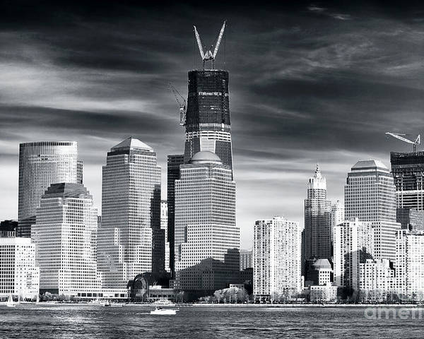 World Trade Center Rebirth Poster featuring the photograph World Trade Center Rebirth by John Rizzuto