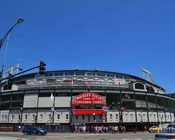 Wrigley Field Poster featuring the photograph Wrigley Field by Aaron Edrington