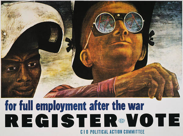 1944 Poster featuring the photograph Wwii: Employment Poster by Granger