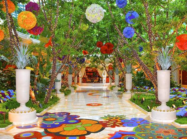 Vegas Poster featuring the photograph Wynn lobby by Michael Anthony