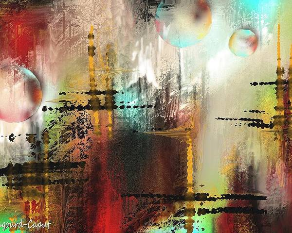 Abstract Poster featuring the painting Xanadoo by Francoise Dugourd-Caput