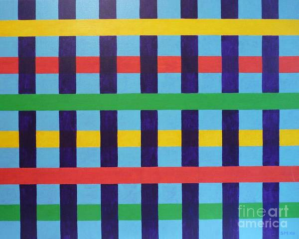 Abstract Poster featuring the painting Xll-system-005 by Stephane Mayeur