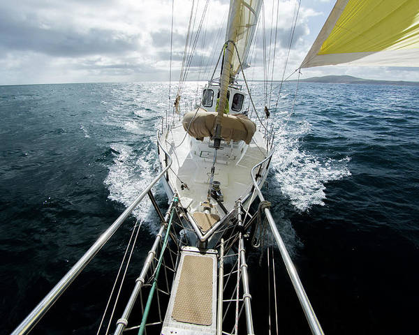 Sailboat Poster featuring the photograph Yacht Sailing On The Southern Ocean by John White Photos