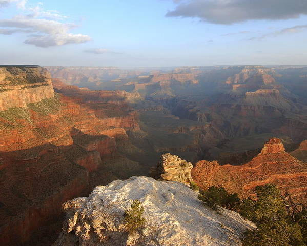 Grand Canyon Poster featuring the photograph Yavapai Point Morning by Stephen Vecchiotti