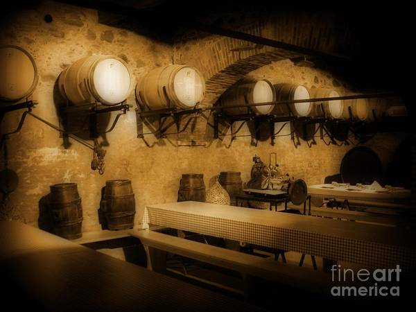 Ye Old Wine Cellar In Tuscany Poster featuring the photograph Ye Old Wine Cellar In Tuscany by John Malone