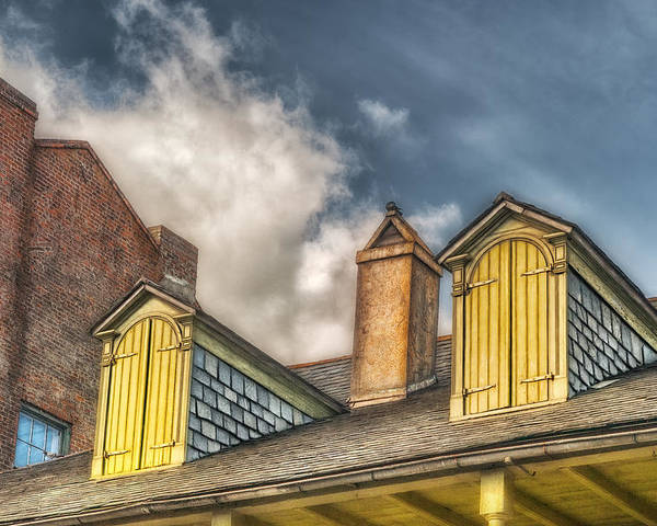 Dormer Poster featuring the photograph Yellow Dormers by Brenda Bryant