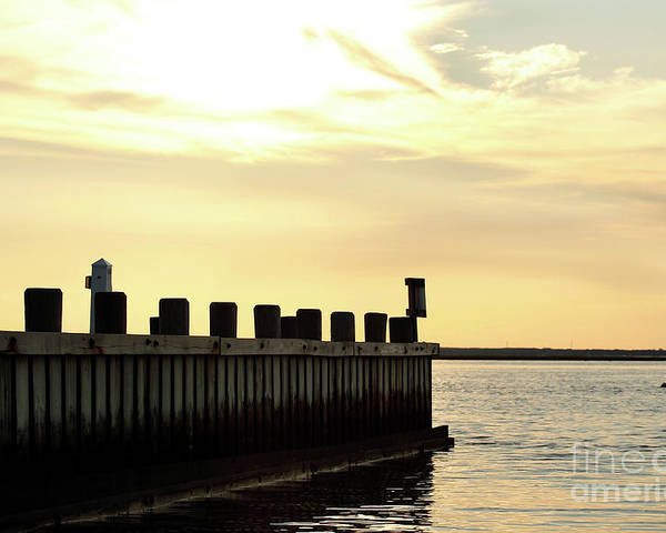 Yellow Sky Poster featuring the photograph Yellow Sky At Lbi by John Rizzuto
