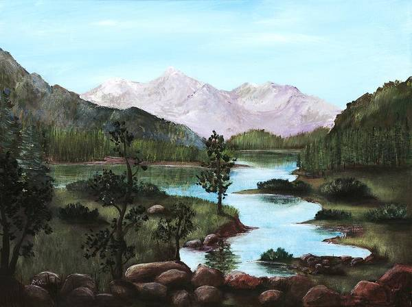 Interior Poster featuring the painting Yosemite Meadow by Anastasiya Malakhova