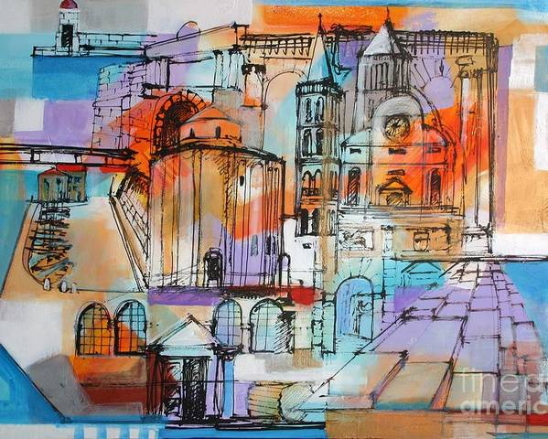 Zadar - Ulje Na Platnu 80x100cm Poster