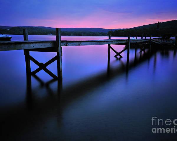 Lake Waramaug Poster featuring the photograph Zen At Lake Waramaug by Thomas Schoeller