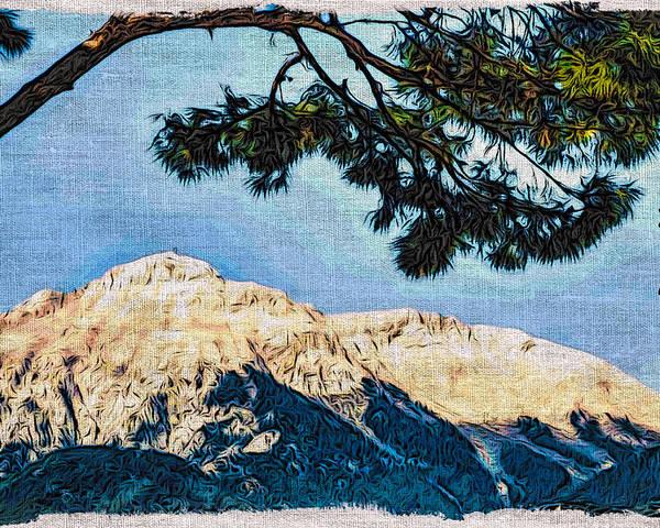 Europe Poster featuring the digital art Zen Mountain by Matt Create