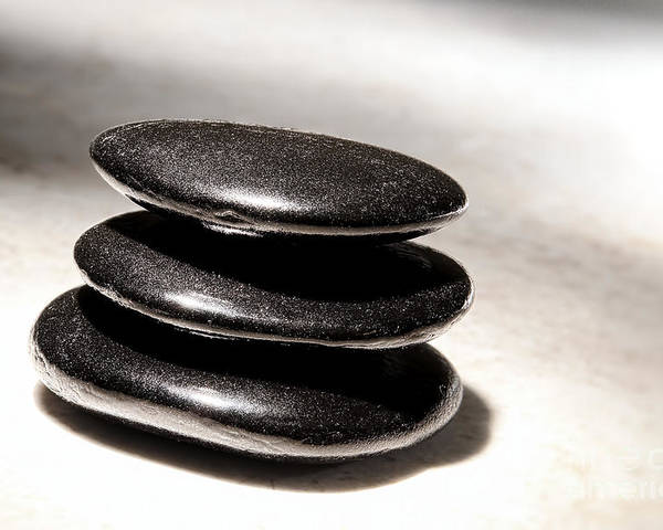 Zen Poster featuring the photograph Zen Stones by Olivier Le Queinec