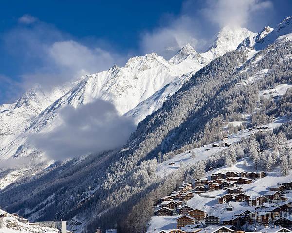 Mountain Poster featuring the photograph Zermatt Mountains by Brian Jannsen