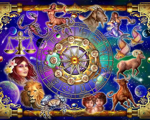 Ciro Marchetti Poster featuring the digital art Zodiac 2 by Ciro Marchetti