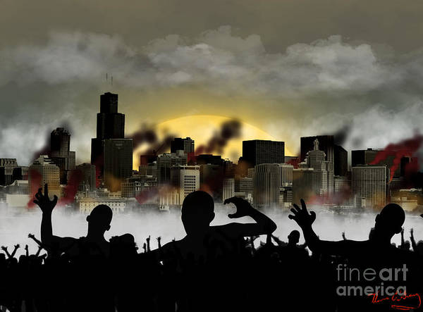 Zombie Poster featuring the digital art Zombie by Thomas OGrady