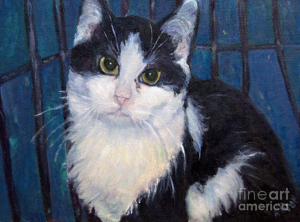 Pet Portrait Poster featuring the painting Zora by Stephanie Allison
