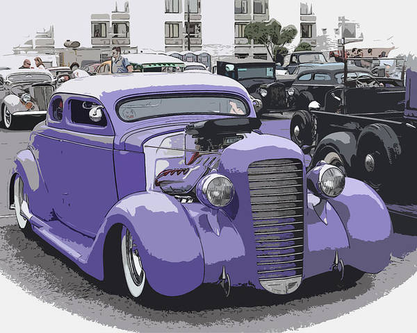 Chopped Poster featuring the photograph Hot Rod Purple by Steve McKinzie