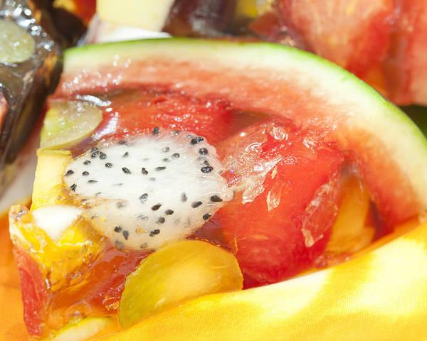 Dessert Poster featuring the photograph Mixed Fruit Watermelon by Anek Suwannaphoom