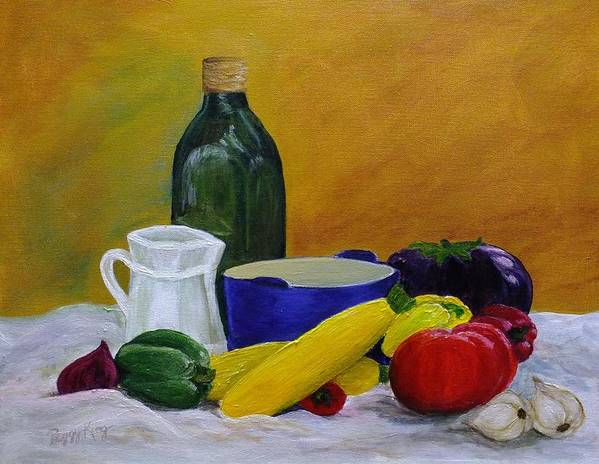 Still Life Poster featuring the painting Ratatouille by Peggy King