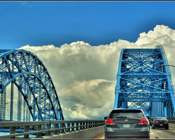 Poster featuring the photograph 005 Grand Island Bridge Series by Michael Frank Jr