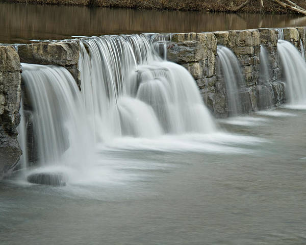 Arkansas Poster featuring the photograph 0902-7009 Natural Dam 2 by Randy Forrester