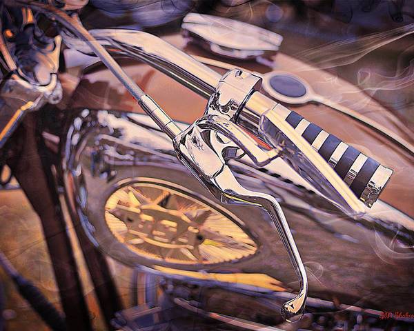 Socal Huntington Beach Hot Rod Car Show Poster featuring the photograph 1969 Bsa Js by SM Shahrokni