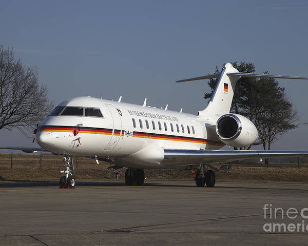Germany Poster featuring the photograph A Bombardier Global 5000 Vip Jet by Timm Ziegenthaler