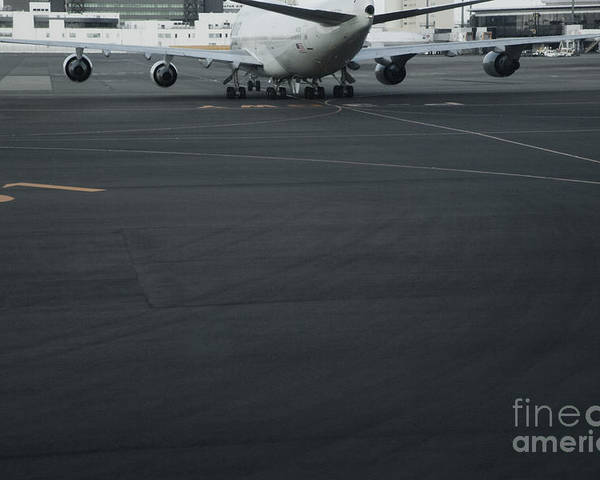Air Traffic Control Poster featuring the photograph Airport Tarmac by Shannon Fagan