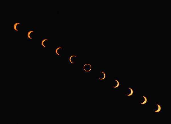 Eclipse Poster featuring the photograph Annular Solar Eclipse, 10 May 1994 by Dr Fred Espenak