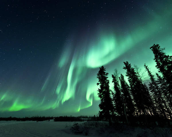 Horizontal Poster featuring the photograph Aurora Borealis by Michael Ericsson
