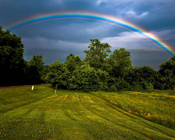 Poster featuring the photograph Backyard Rainbow by Brian Stevens