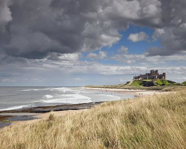Castle Poster featuring the photograph Bamburgh Castle Northumberland, England by John Short