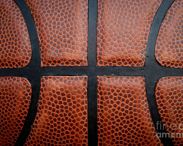Background Poster featuring the photograph Basketball - Leather Close Up by Ben Haslam