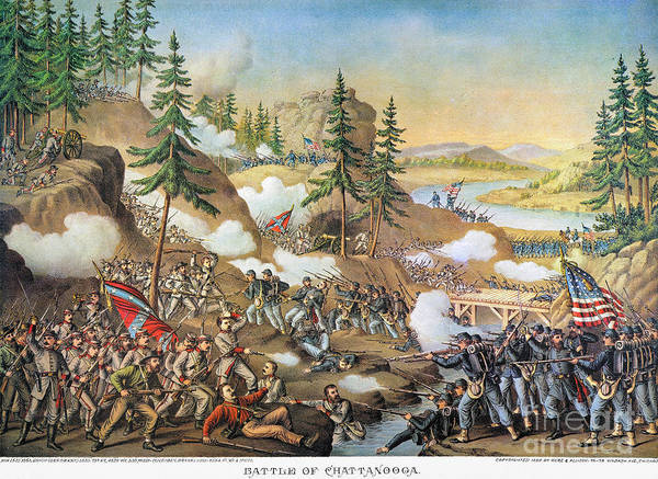 1863 Poster featuring the photograph Battle Of Chattanooga 1863 by Granger
