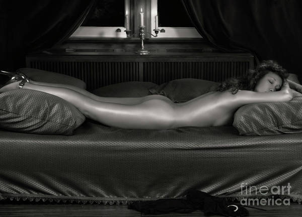 Erotic Poster featuring the photograph Beautiful Woman Sleeping Naked by Oleksiy Maksymenko