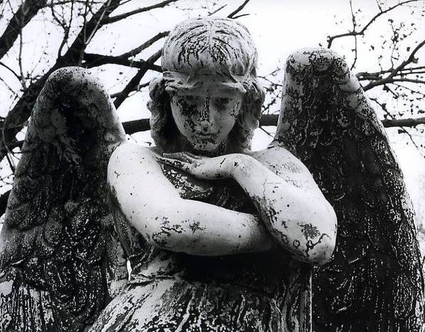 Angel Poster featuring the photograph Bellefontaine Angel by Jane Linders