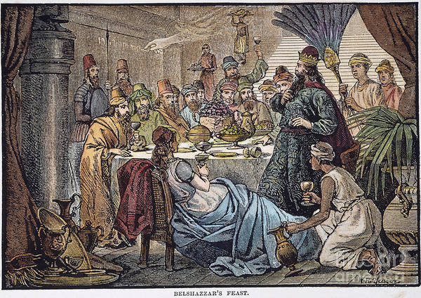 Belshazzar Poster featuring the photograph Belshazzars Feast by Granger