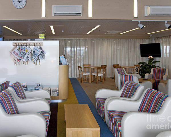 Air Travel Poster featuring the photograph Business Lounge At An Airport by Jaak Nilson