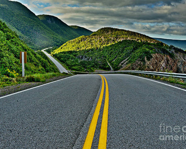 Nova Scotia Poster featuring the photograph Cabot Trail by Joe Ng