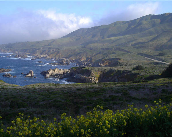 California Poster featuring the photograph California Coast by Cyndi Combs