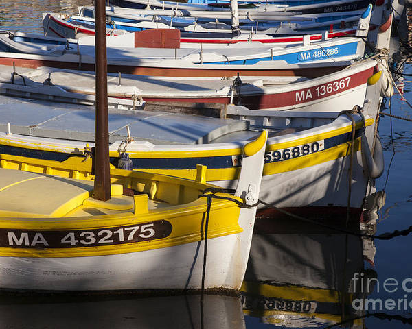 Boating Poster featuring the photograph Cassis Boats by Brian Jannsen