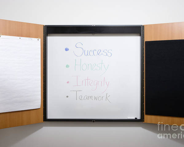 Affirmations Poster featuring the photograph Dry Erase Board by Andersen Ross