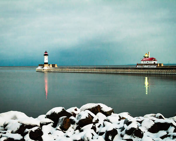 Duluth Poster featuring the photograph Duluth Harbor by David Wynia