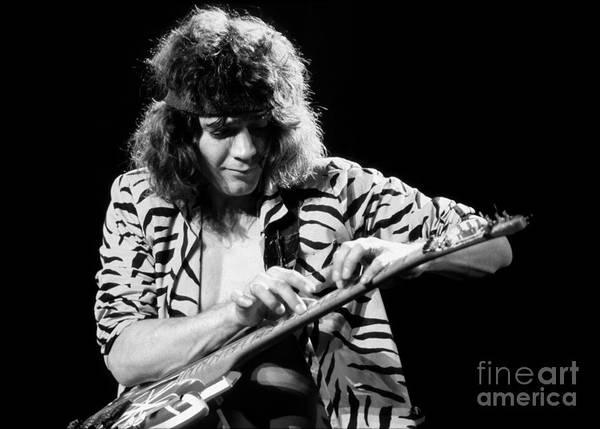 Van Halen Poster featuring the photograph Eddie Van Halen 1984 by Chris Walter