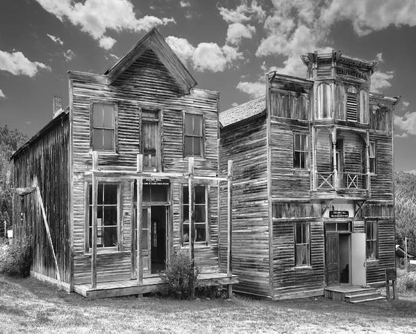Elkhorn Poster featuring the photograph Elkhorn Ghost Town Public Halls - Montana by Daniel Hagerman