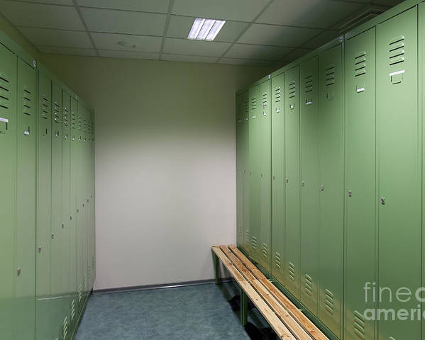 Architecture Poster featuring the photograph Empty Locker Room by Jaak Nilson