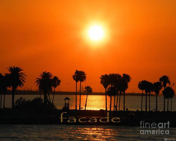 Sunset Poster featuring the digital art Facade by Lizi Beard-Ward