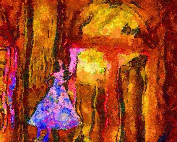 Impressionist Fashion Painting Poster featuring the painting Fashion 133 by Jacques Silberstein
