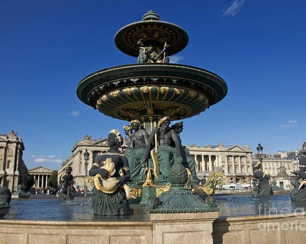 Photo Fountain on Place de la Concorde Paris Collection Parisian Squares Premium Photo Paper