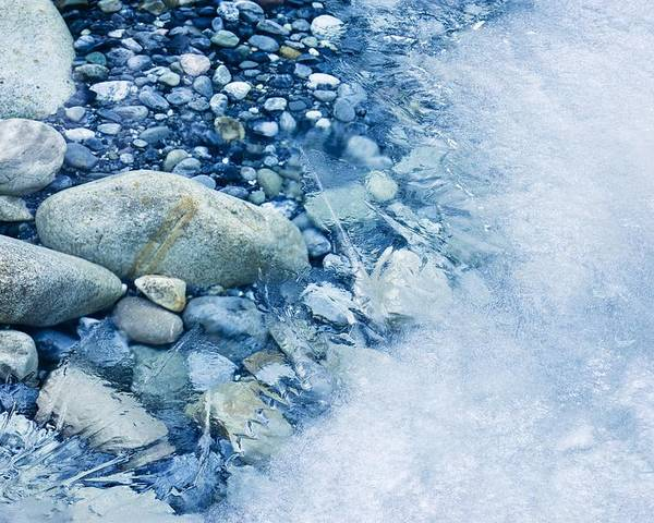 Ice Poster featuring the photograph Freezing River by Jeremy Walker